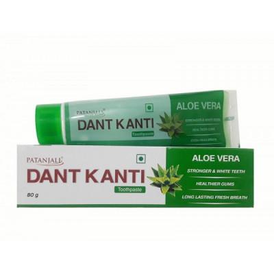Зубная паста Дант Канти с алоэ - всесторонний уход за полостью рта (Patanjali), 80 гр