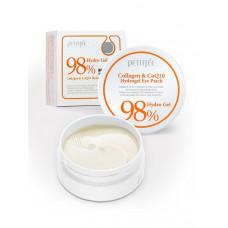 Патчи для глаз с коэнзимом Petitfee Collagen & Co Q10 Hydrogel Eye Patch, 60 шт.
