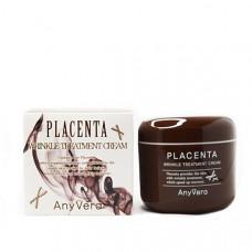 Антивозрастной крем на основе плацентарной вытяжки ANY VERA PLACENTA Wrinkle treatment cream