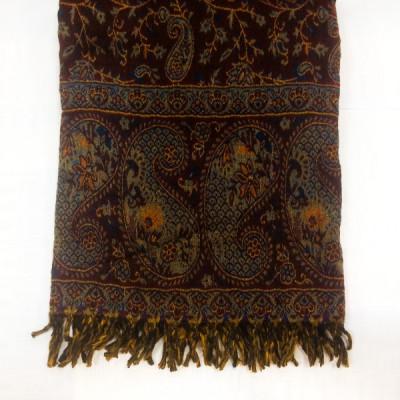 Палантин из шерсти с вышивкой, Индия