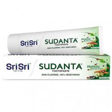 Зубная паста «Суданта»-вегетарианская + от кровоточивости десен,пародонтоза, кариеса, укрепляет эмаль, 100 г, Шри АюрведаSudanta Toothpaste
