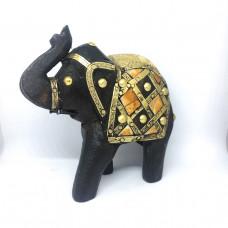 Слон из дерева и латуни, ручной работы, Индия