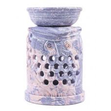 Аромалампа для эфирных масел (камень) - Сова