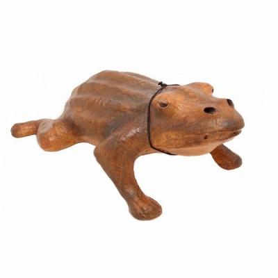 Декоративная, кожаная лягушка