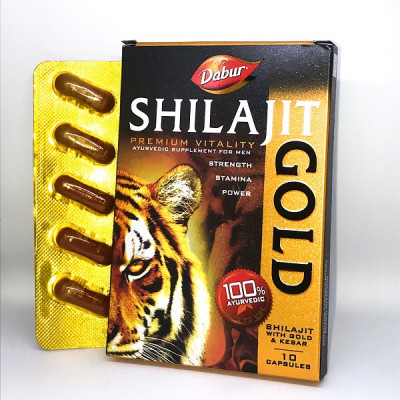 Шиладжит голд- мужская сила,  SHILAJIT GOLD, 10 капсул.