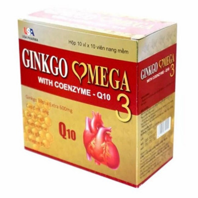 Гингко Билоба с коэнзимом Q10 - укрепления сердца и сосудов (Ginkgo Biloba with coenzyme Q10), 100 табл