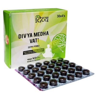 Медха Вати - для памяти и мозга (Divya Medha Vati,Patanjali), 30 таб.