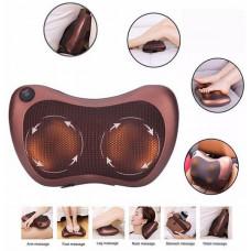 Массажная подушка с подогревом для шеи и спины (Massage Pillow 8028) 8 роликов