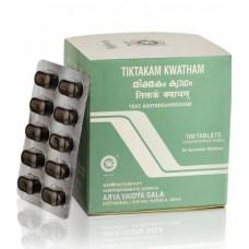 Тиктакам Кватхам Коттаккал-лечение кожных заболеваний (Tiktakam Kwatham Kottakkal), 100 таб.