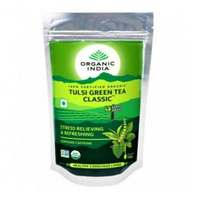 Чай зелёный, индийский  (Tulsi Green Tea Classic), 100 гр
