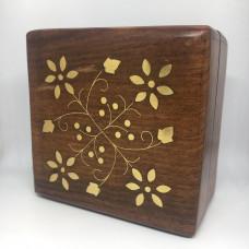 Шкатулка ручной работы из дерева, Индия