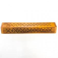 Деревянная подставка для благовоний пенал, Индия