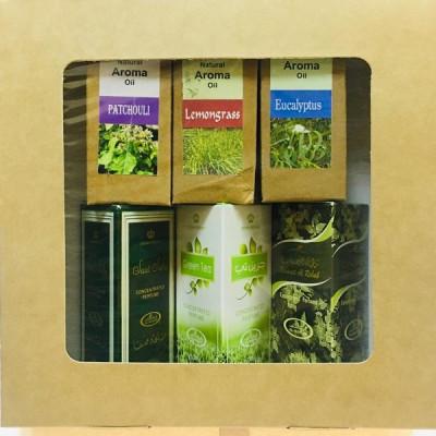 Подарочный набор (цитрусовый) Арабские духи + эфирные масла