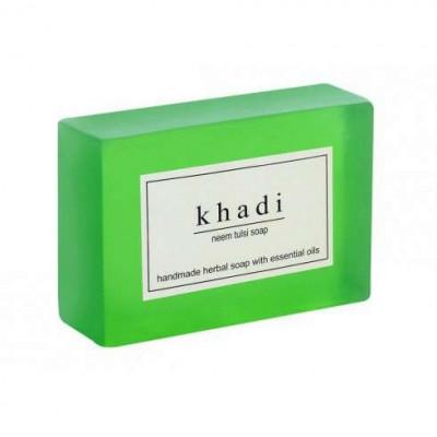 Натуральное мыло ручной работы Ним — Тулси Кхади, Khadi Handmade Herbal Soap Neem Tulsi