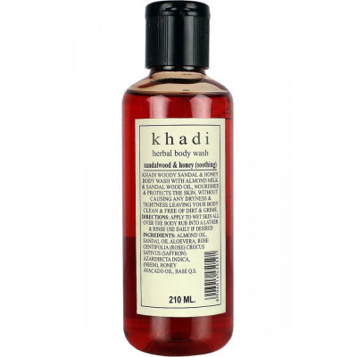 Гель для душа Сандал и Мед Кхади, khadi Body Wash Sandalwood & Honey 210 мл4