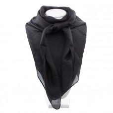 Платок натуральный шёлк однотонный черный