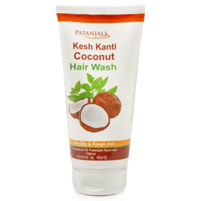 Шампунь Кеш Канти Кокос Патанджали- для особого ухода за сухими, поврежденными, непослушными волосами. (Patanjali Kesh Kanti Coconut Hair Wash)