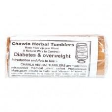 Деревянный стакан (ступа) с крышкой для диабетиков, Chawla Herbal Tumbler