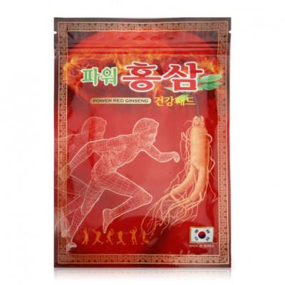 Корейский пластырь Power Red Ginseng с красным женьшенем - мгновенно снимает боль