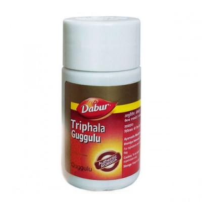 Трифала гуггул Дабур (Triphala guggul Dabur)-очищение и омоложение 40 Таблетки.