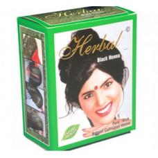 Хна для волос черная Herbal Henna 6 пакетиков по 10 гр.
