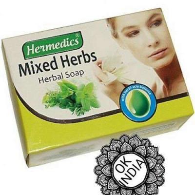 Травяное мыло Hermedics с алоэ-вера, кокосовым маслом и масло ним 100 гр