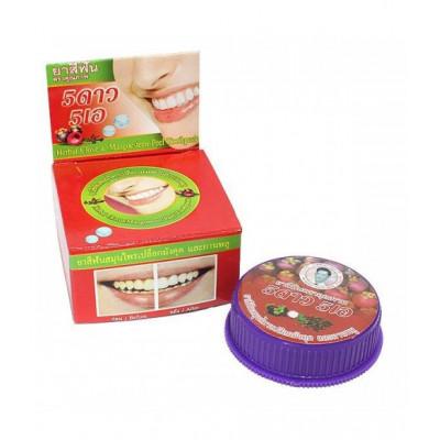 Тайская травяная отбеливающая зубная паста 5star «Мангустин»
