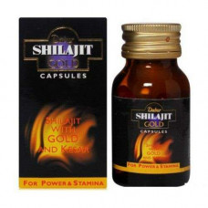Шиладжит Голд с Шафраном Dabur Shilajit Gold- омолаживает и активно тонизирует, 20 Таблетки.