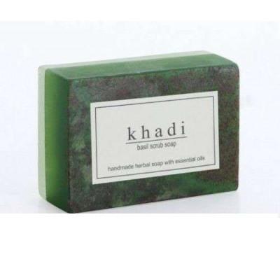 Мыло-скраб «Базилик», 125 г Кхади