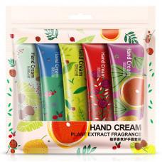 Набор из 5 фруктовых кремов для рук Bioaqua  Hand Cream 30 гр. х 5 шт.