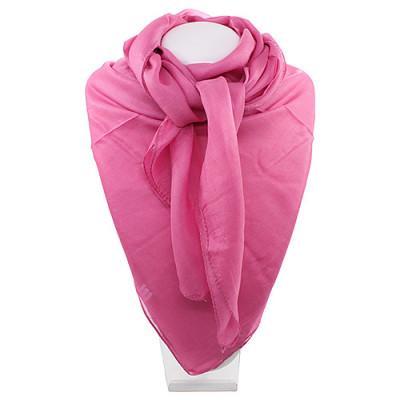 Платок однотонный розовый  100% индийский шёлк