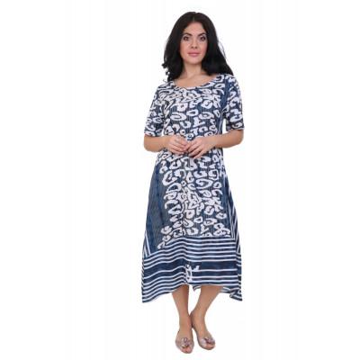 Платье вискоза цвет Синий