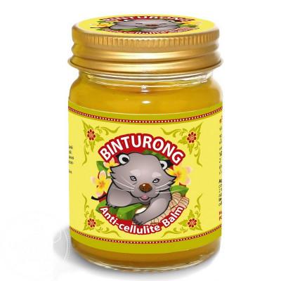 """Бальзам желтый антицеллюлитный с куркумой и имбирем """"Binturong"""" Anti-cellulite Balm 50 гр"""
