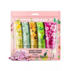 Набор цветочных кремов для рук Bioaqua Hand Cream 5 шт. по 30 гр.