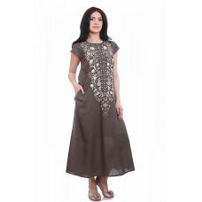 Платье с вышивкой цвет хаки Gang 19