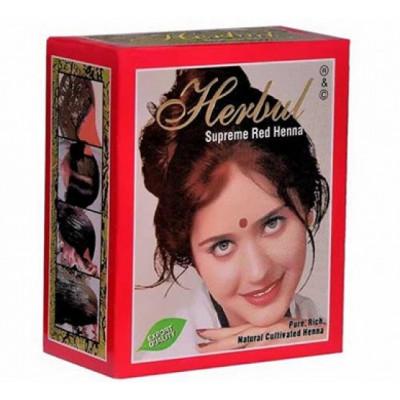 Хна для волос темно-красная Herbal Henna 6 пакетиков по 10 гр.