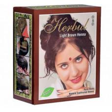 Хна для волос светло-коричневая Herbal Henna 6 пакетиков по 10 гр.