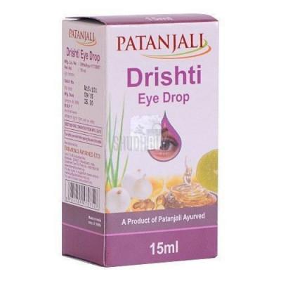 Глазные капли Дришти (Drishti) Patanjali -  мощный антисептический раствор 10 мл