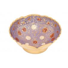 Ваза фруктовница (эмаль синяя) из латуни