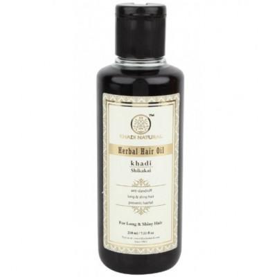 Травяной шампунь Шикакай, Khadi Herbal shampoo Shikakai, 210 мл