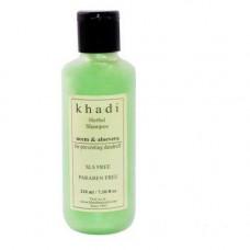 Кхади Естественным Нима и Алоэ Вера Шампунь- бороться с шелушащейся заболевания кожи головы, очищает омертвевшие клетки, восстанавливает поврежденные волосы. (Khadi aloe vera and neem shampoo)