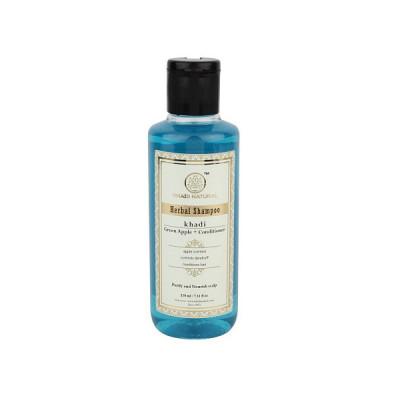 Шампунь кондиционер Кхади (Зеленое яблоко)- витаминизирующий, увлажняющий, делает волосы послушными, блестящими и мягкими. Khadi herbal shampoo (green apple + conditioner)