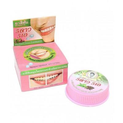 Тайская травяная отбеливающая зубная паста 5star «Гвоздика»