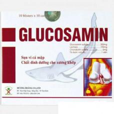Глюкозамин (Glucosamin) для суставов из хряща плавника акулы, Вьетнам, 100 капсул