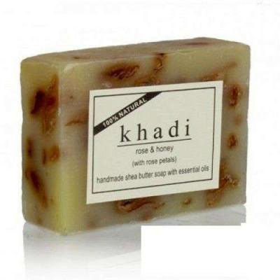 Натуральное мыло Роза и мед, 100 г Кхади