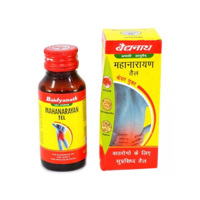 Маханараян - масло для суставов, повышение их подвижности, Mahanarayan Massage OIl Baidyanath 100 мл