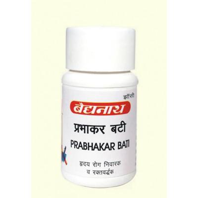 Прабхакар Бати для лечения заболеваний сердца. (Prabhakar bati, Baidyanath) 80 таб