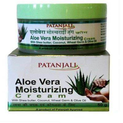Алое Вера крем Патанджали — увлажняющий, ранозаживляющий, снимает последствия солнечных ожогов. Aloe vera cream Patanjali 50gr
