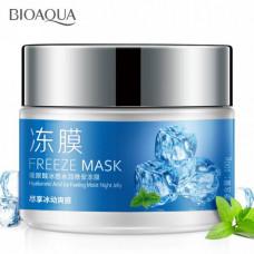 Увлажняющая охлаждающая ночная маска для лица с гиалуроновой кислотой BIOAQUA, 100 гр.