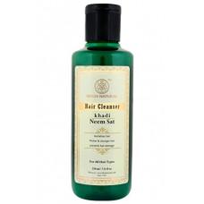 Кхади Травяной Шампунь Ним Сат (Khadi Herbal Shampoo Neem Sat) эффективен при раздроженнии кожи головы